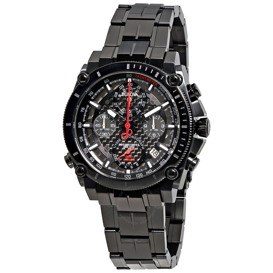 Bulova precisionist ultra high frequency chronograph men 39 s watch 98b257 precisionist bulova for Watches bulova