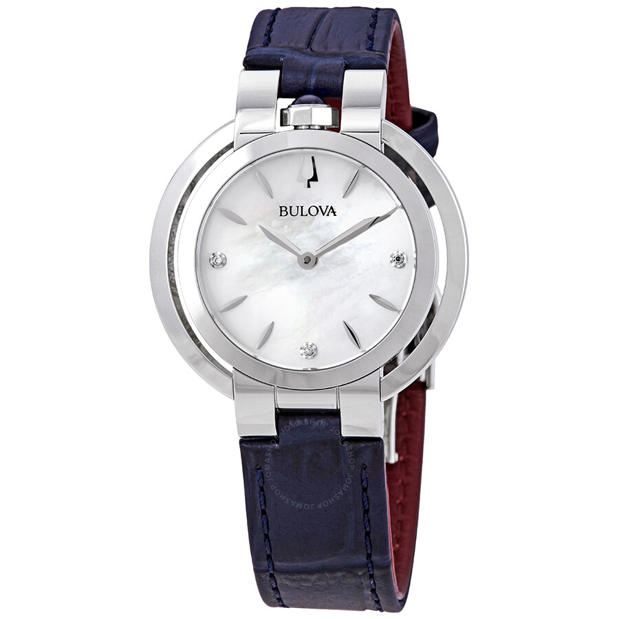 7a81388ae Bulova Rubaiyat Quartz Mother of Pearl Dial Ladies Watch 96P196 ...