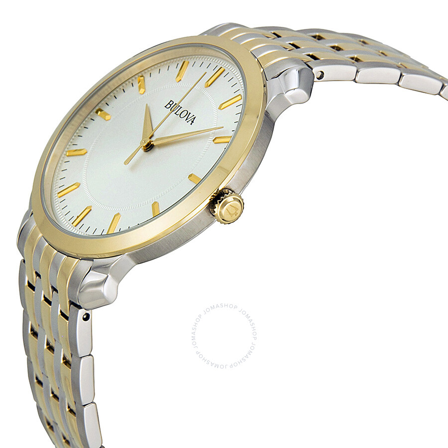d2e5233792c5 ... Bulova Silver Dial Two-tone Stainless Steel Men s Watch 98A121 ...