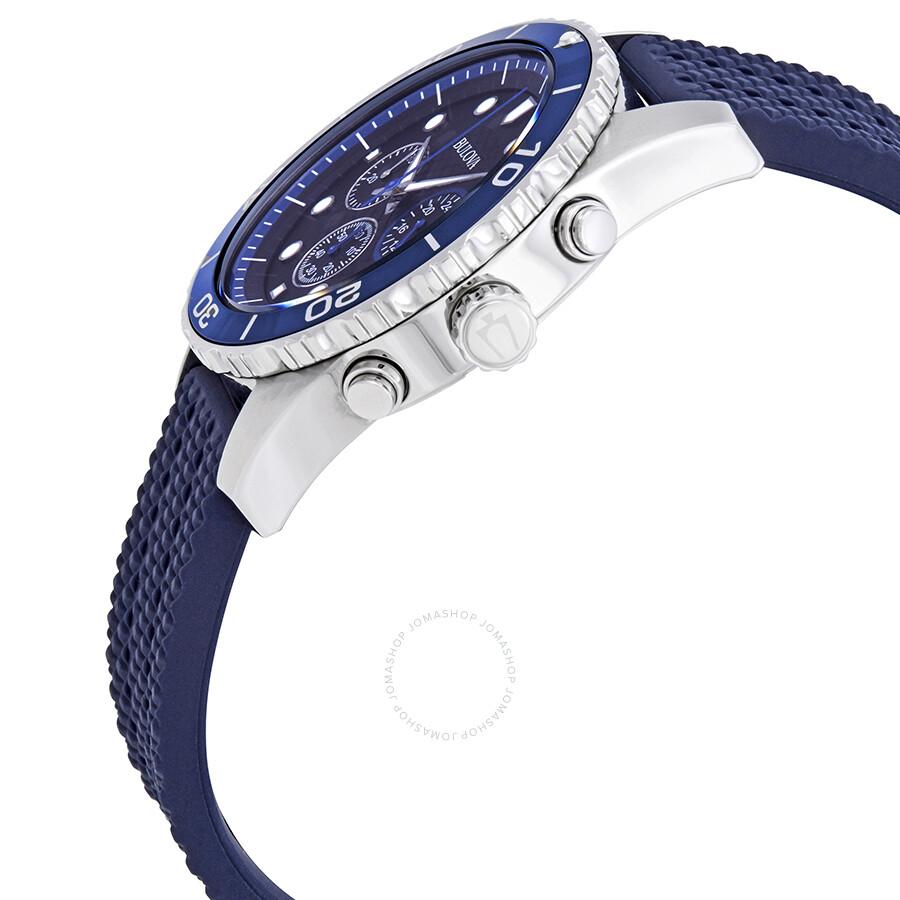 4ae3427db Bulova Sport Chronograph Black Dial Men's Watch 98A190 - Sport ...