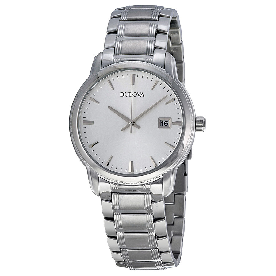 Bulova steel men 39 s watch 96b105 dress bulova watches jomashop for Watches bulova