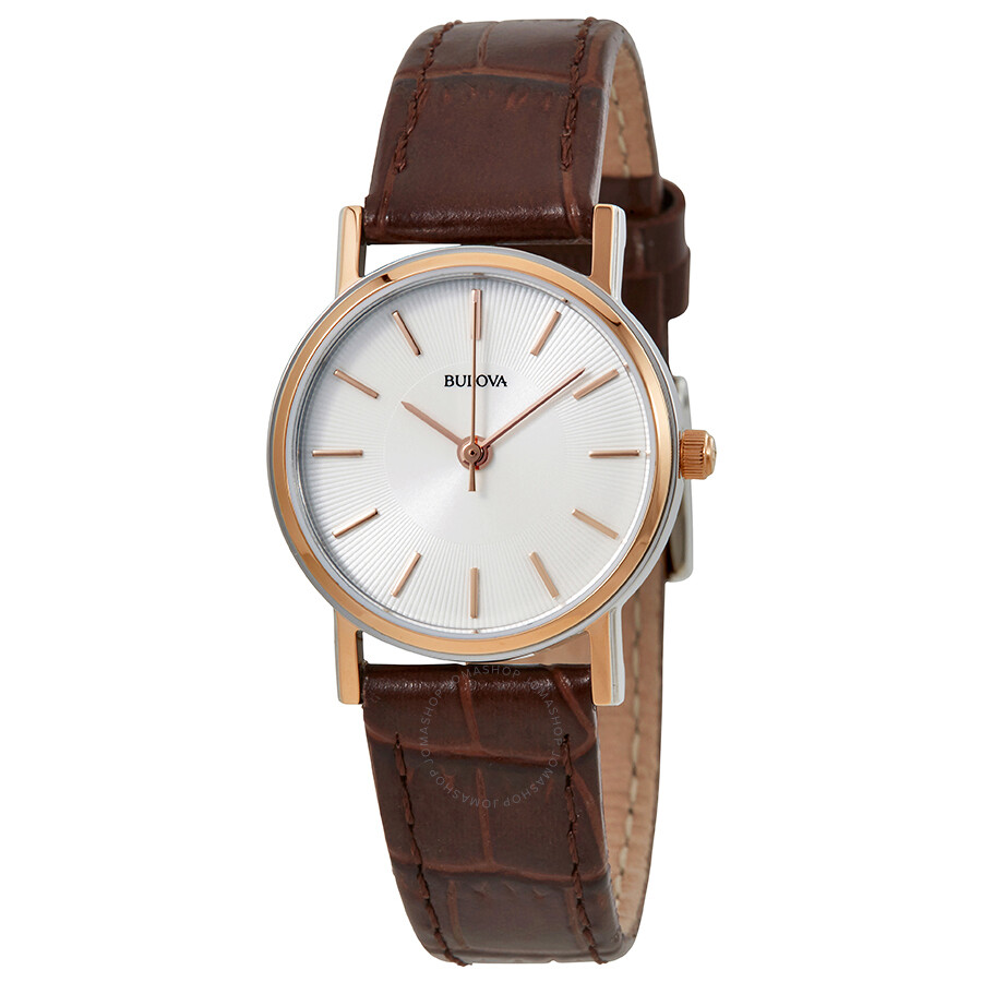 Bulova strap series white dial ladies watch 98v31 bulova watches jomashop for Watches bulova