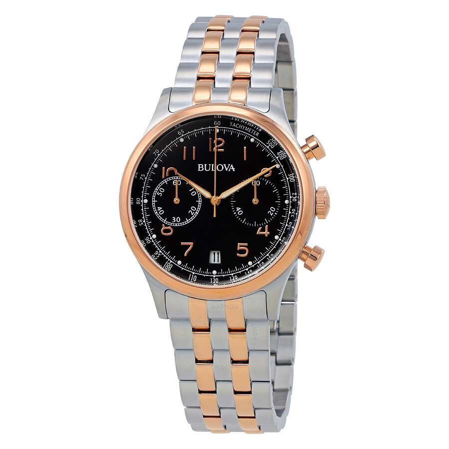 Bulova vintage chronograph brown dial men 39 s watch 98b248 bulova watches jomashop for Watches bulova