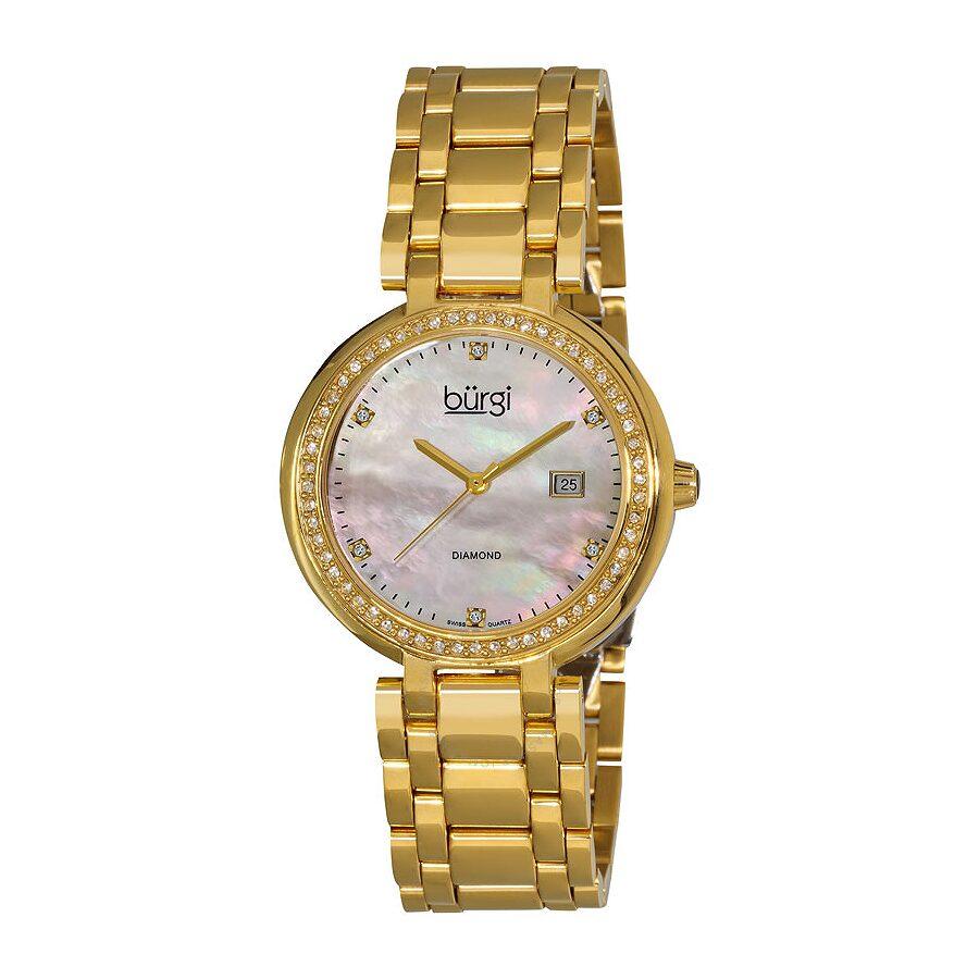 burgi gold tone quartz bracelet