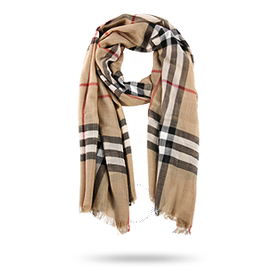 fa5eed5b6af70 Burberry Checked Wool and Silk-blend Scarf - Apparel - Fashion   Apparel -  Jomashop