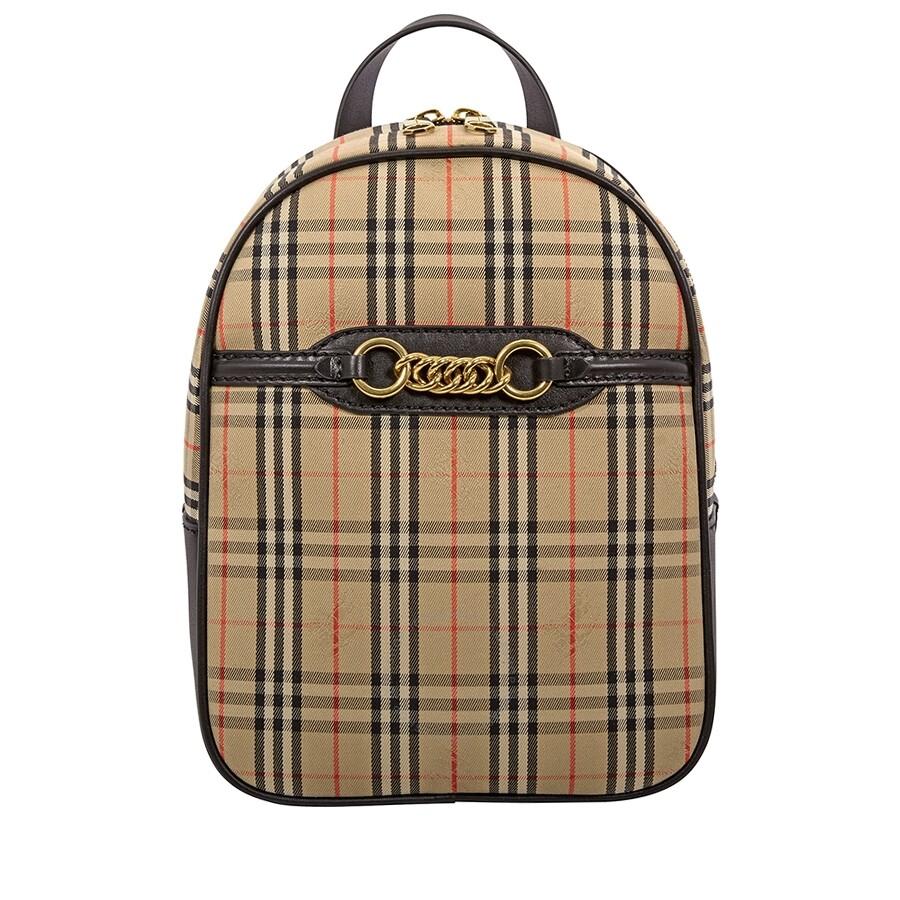 Burberry 1983 Check Link Backpack- Black - Burberry Handbags ... d7b5d984222c9