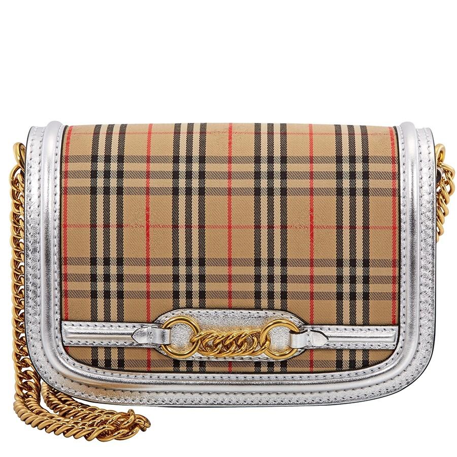 faf1917122f Burberry 1983 Check Link Shoulder Bag- Silver - Burberry Handbags ...