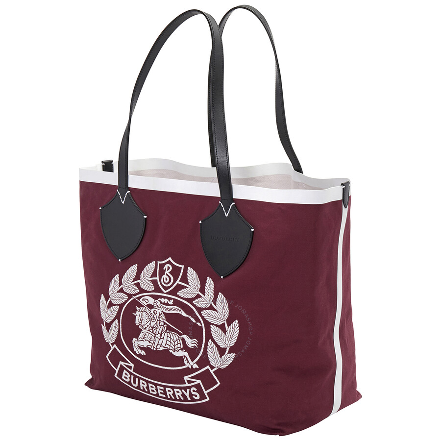 Totebag reversible red tones cotton and cotton coated