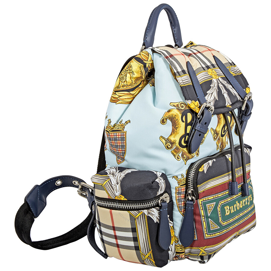 bdd94cf49ced Burberry Archive Scarf Print Medium Rucksack- Ink Blue - Burberry ...