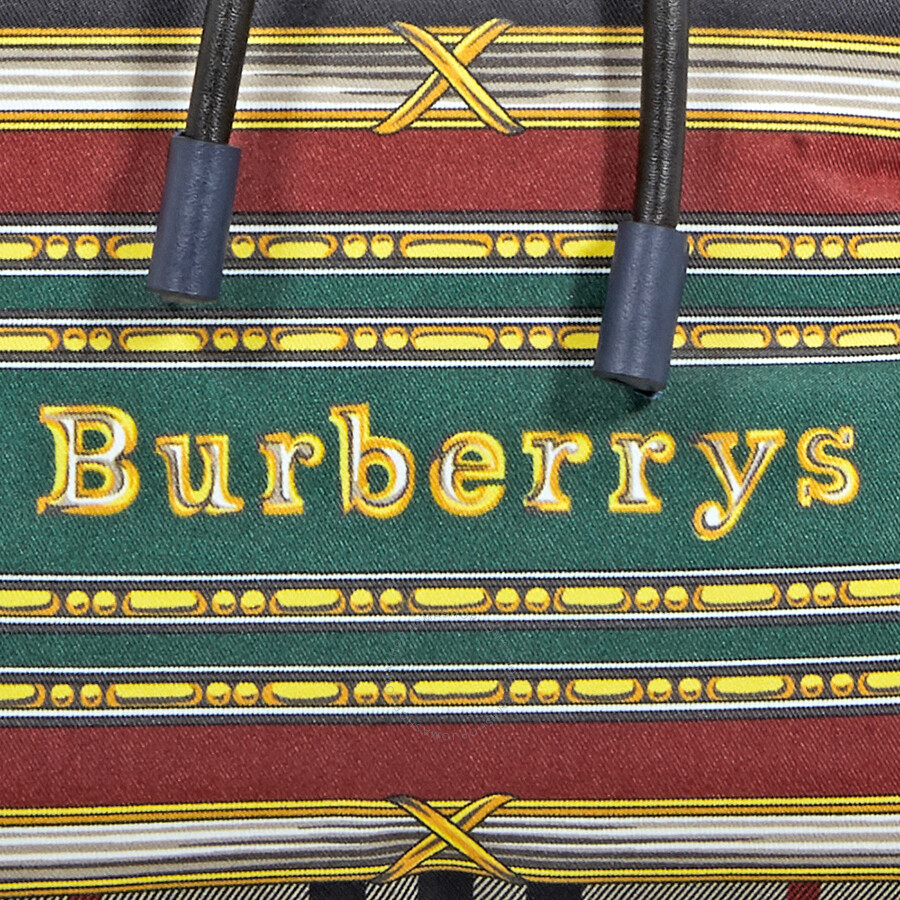 522b3b60125a Burberry Archive Scarf Print Medium Rucksack- Ink Blue - Burberry ...