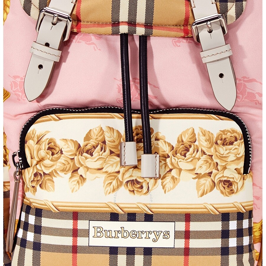 11c49136fe08 Burberry Archive Scarf Print Medium Rucksack- Stone - Burberry ...
