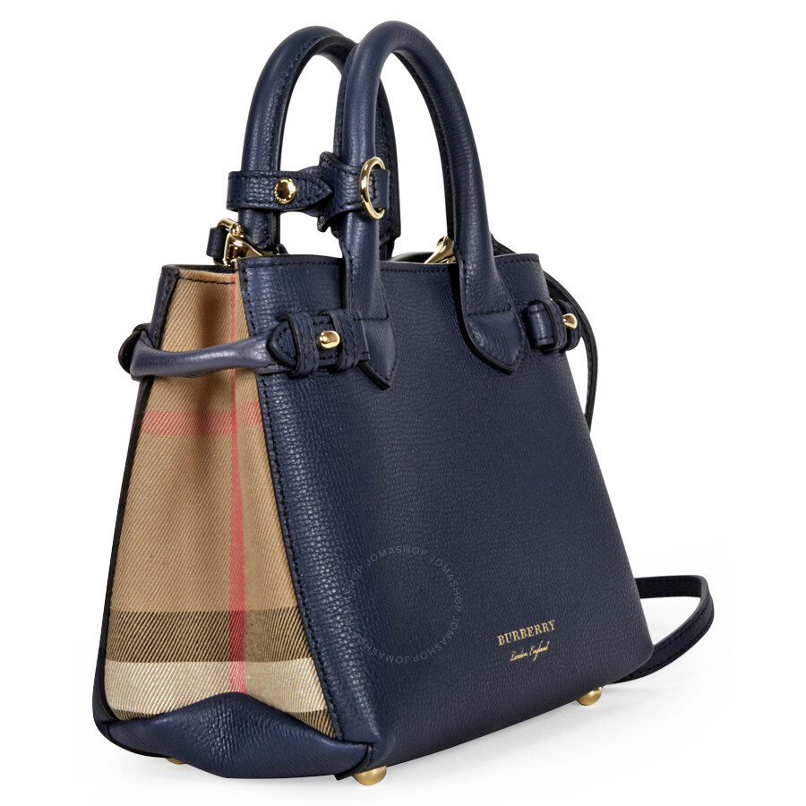 be87a6ae44 Burberry Baby Banner Leather House Check Tote - Ink Blue - Burberry ...