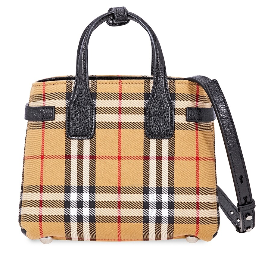 54032cda7867 Burberry Baby Banner Vintage Check Crossbody Bag- Black Item No. 4079964
