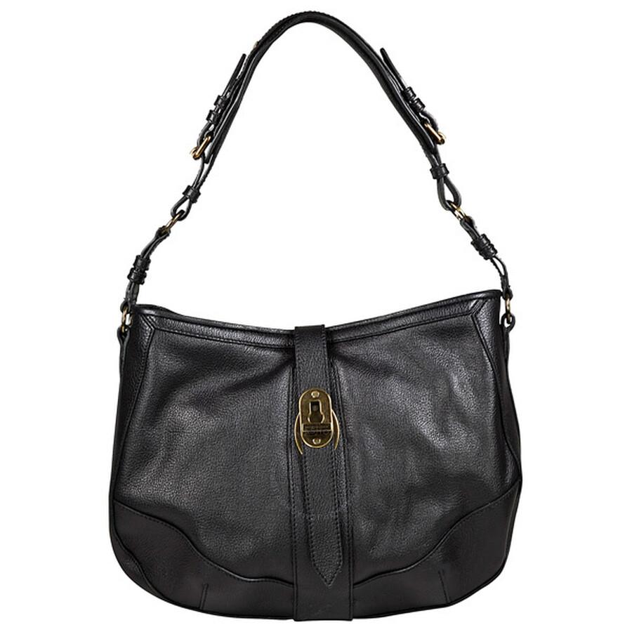 e0c8d956560e Burberry Bartow Black Grainy Leather Hobo Bag 3764088 - Burberry ...