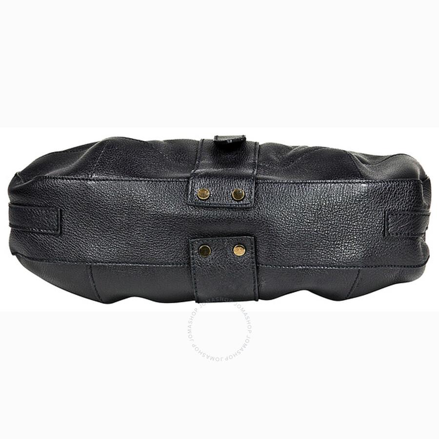 acb92e67412 Burberry Bartow Black Grainy Leather Hobo Bag 3764088 - Burberry ...