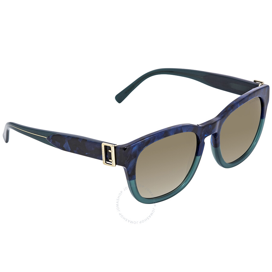 b52f80de4f67 Burberry Blue Havana Green Square Sunglasses BE4258-36778E-54 ...