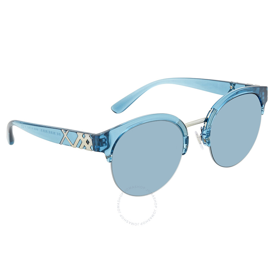 e17b69da7d44 Burberry Blue Round Sunglasses BE4241-367280-52 - Burberry ...