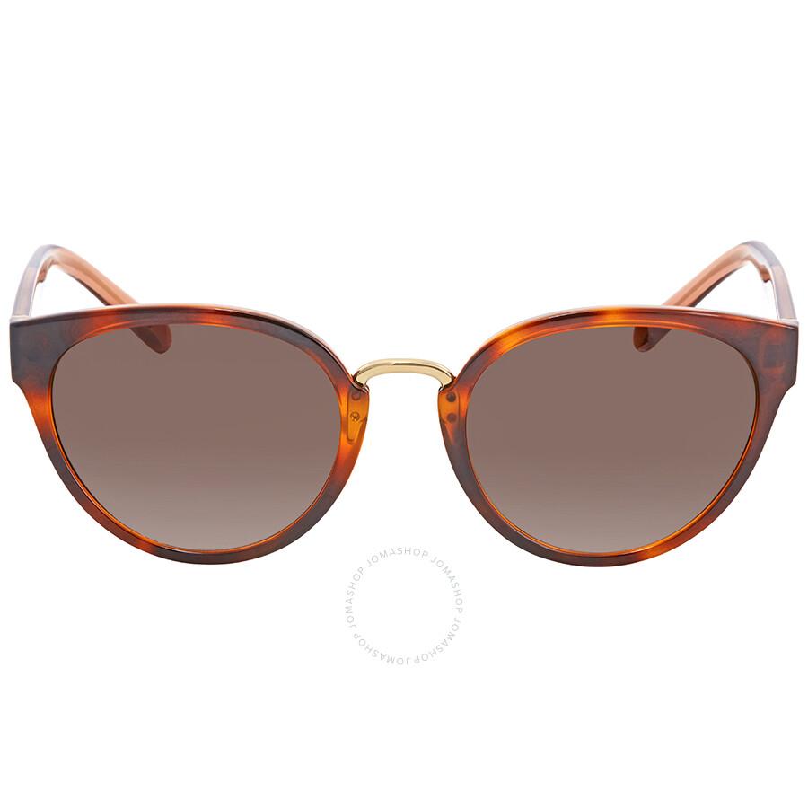 3d3a970c1dc ... Burberry Brown Gradient Cat Eye Ladies Sunglasses BE4249-331613-53 ...