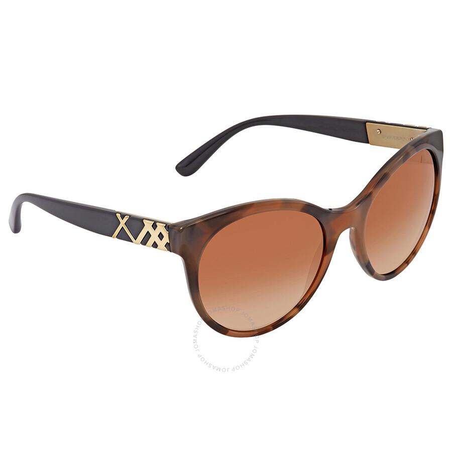 99538475d406 Burberry Brown Gradient Round Ladies Sunglasses BE4236-362313-56 ...