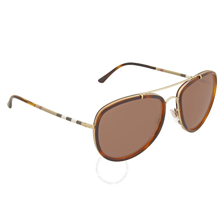 a662dfcb6f83 Burberry Brown Mirror Aviator Sunglasses - Burberry - Sunglasses ...