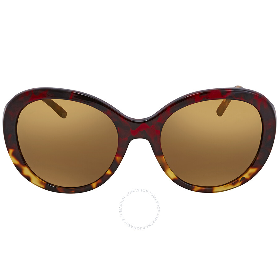 553532daffed ... Burberry Brown Mirror Gold Round Ladies Sunglasses BE4191-36646H-57 ...