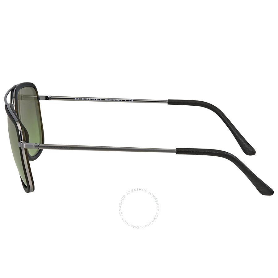 49e764e3d84c Burberry Brushed Gunmetal Square Men's Sunglasses - Burberry ...