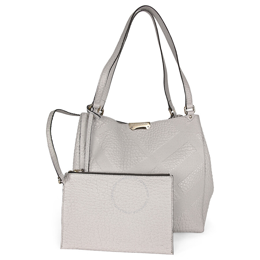 e7d5a061dfd Burberry Canterbury White Embossed Check Leather Tote - Burberry ...