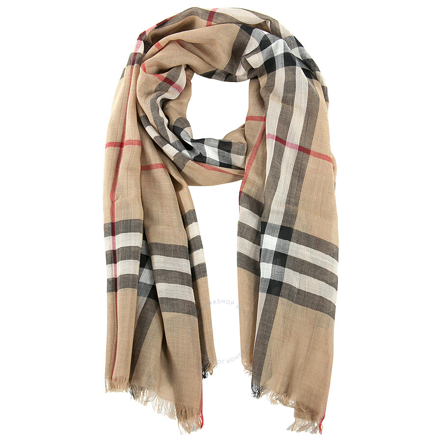 burberry watch outlet ixop  Burberry Checked Wool and Silk-blend Scarf