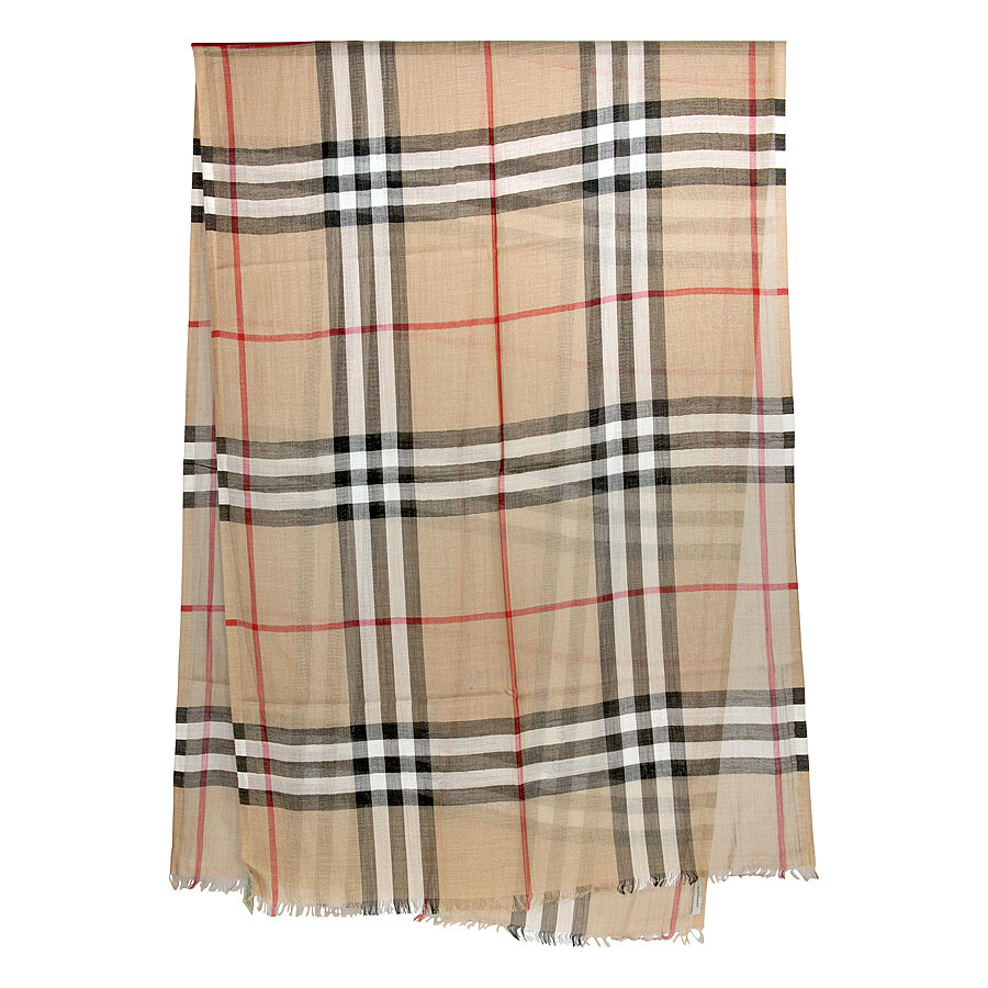 f3a7c0a72a23f Burberry Checked Wool and Silk-blend Scarf - Apparel - Fashion ...