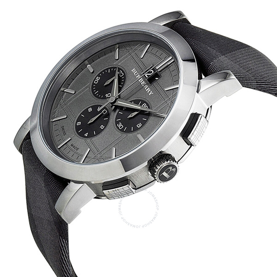 ... Burberry Chronograph Beat Check Grey Dial Stainless Steel Men s Watch  BU1756 ... a95b12cb20