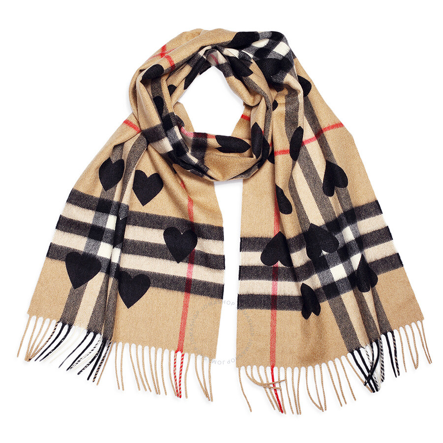 burberry classic cashmere scarf check and hearts apparel fashion apparel jomashop. Black Bedroom Furniture Sets. Home Design Ideas
