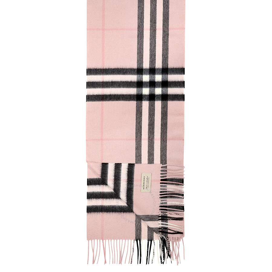 f3a9cdae Burberry Classic Cashmere Scarf in Check - Ash Rose - Burberry ...