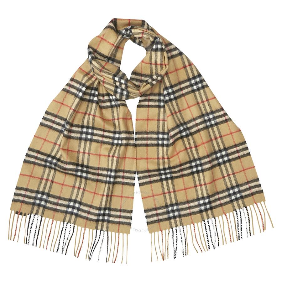 c9283a4f263 Burberry Classic Vintage Check Cashmere Scarf- Antique Yellow Item No.  4073122