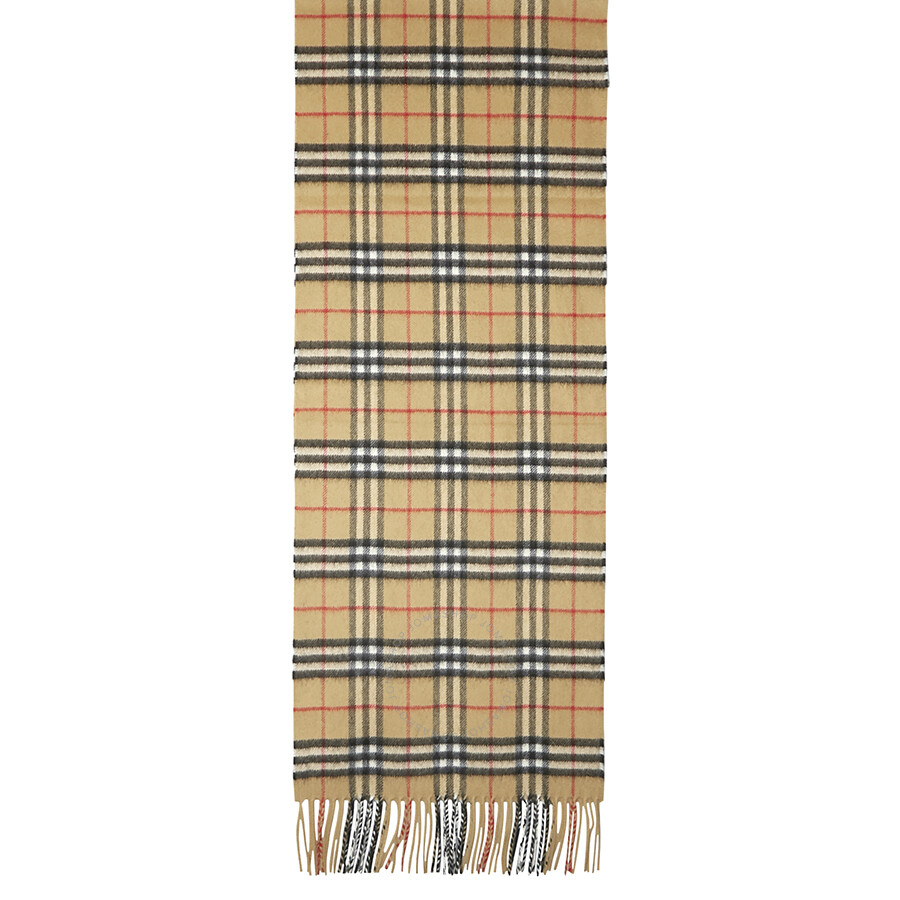 6ef56fa3a1c8d Burberry Classic Vintage Check Cashmere Scarf- Antique Yellow - Jomashop