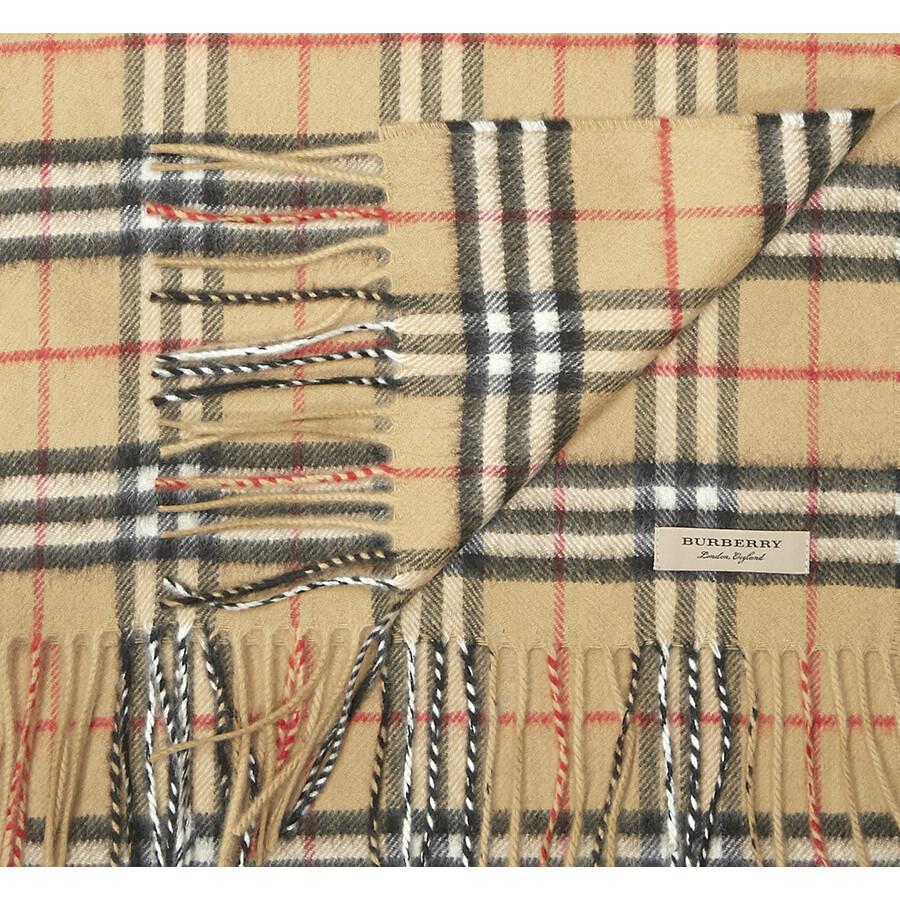 b3d40335d46 Burberry Classic Vintage Check Cashmere Scarf- Antique Yellow - Jomashop