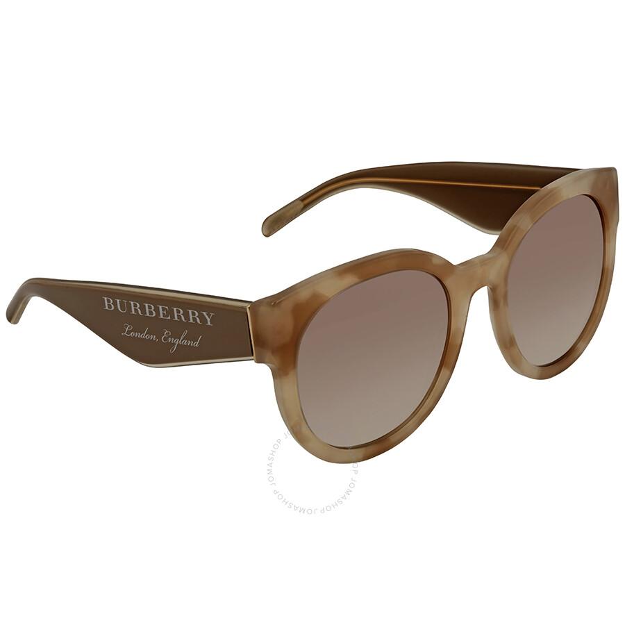 d034e48f88 Burberry Gradient Brown Mirror Silver Round Sunglasses BE4260-369194-54 ...