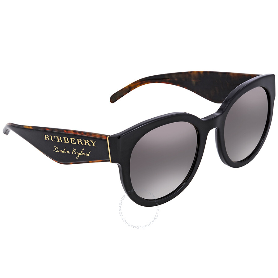 8db5a9669ab7 Burberry Gradient Grey Mirror Silver Round Sunglasses BE4260-36836I-54 ...