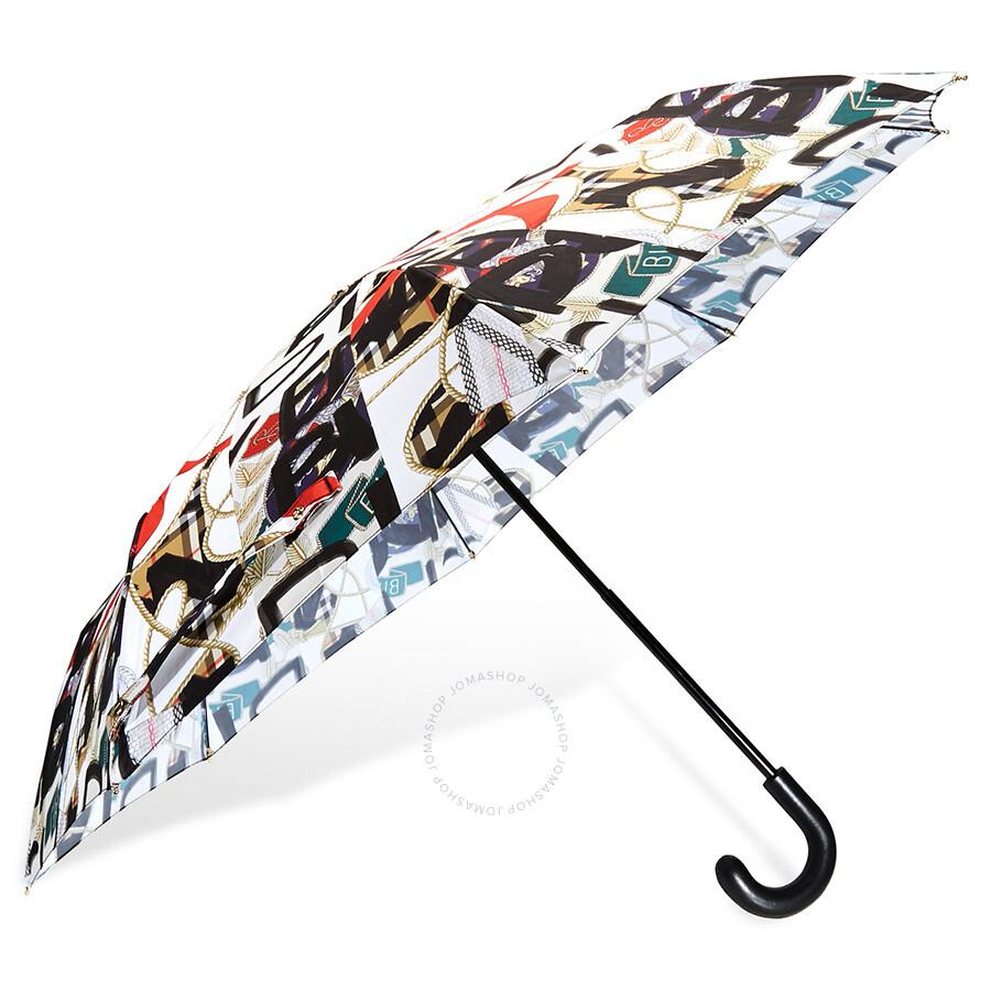 Burberry Graffiti Archive Scarf Print Folding Umbrella- Multicolour