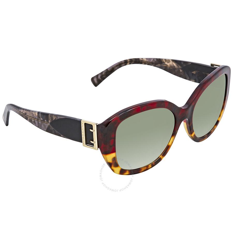 9a3b0f55d4 Burberry Green Gradient Round Ladies Sunglasses BE4248-36358E-57 ...