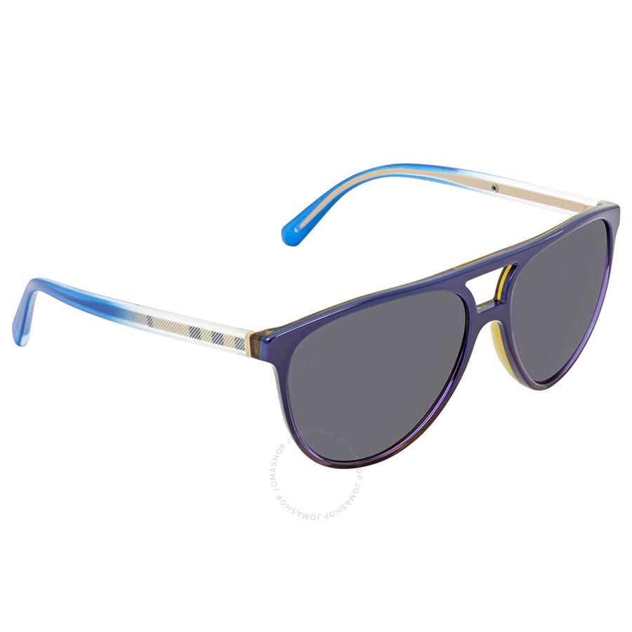 d1a7dce9140 Burberry Grey Aviator Men s Sunglasses BE4254-366287-58 - Burberry ...