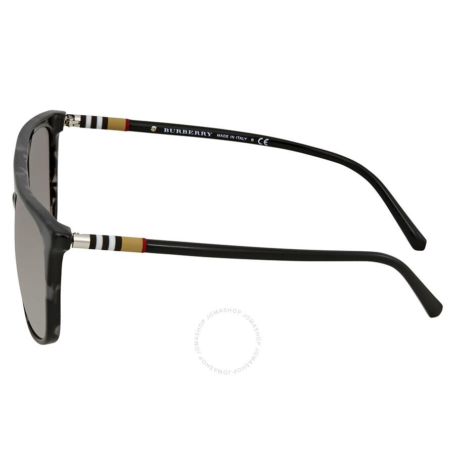 df3e2ea95f4 Burberry Grey Havana Square Sunglasses BE4257 35336I 57 - Burberry ...