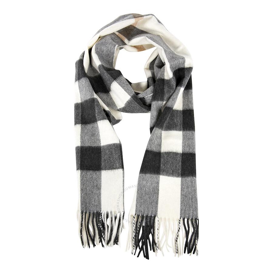 483923bf2119e Burberry Half Mega Check Cashmere Scarf 3829862 - Apparel - Fashion ...