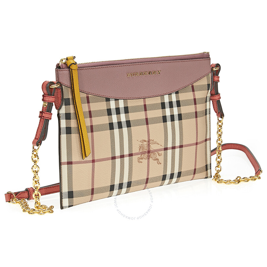 0959d62feabd ... Burberry Haymarket Check and Two Tone Leather Clutch - Dusty Pink    Multi ...