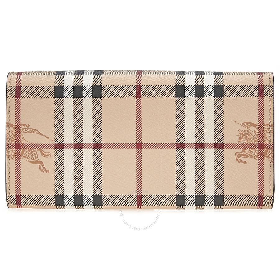 ddad13212ff1 Burberry Haymarket Check Continental Wallet - Tan - Burberry ...