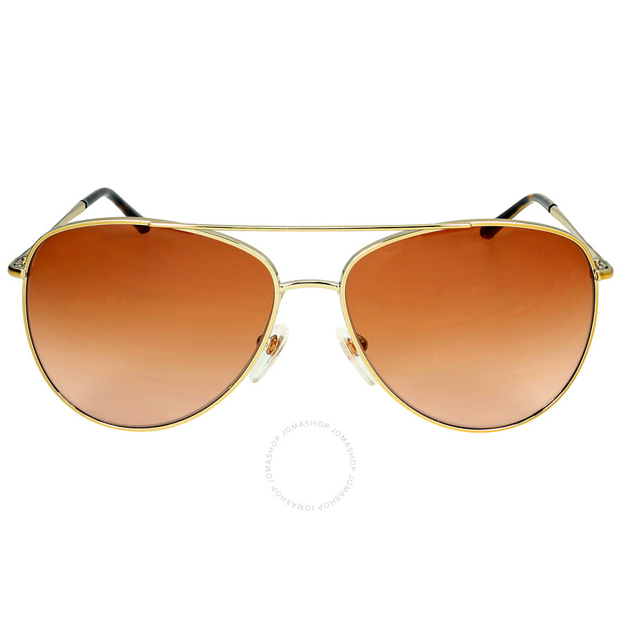 8a0e9640a294b Burberry Heritage House Check Aviator Sunglasses - Gold Brown Gradient Item  No. 0BE3072-114513-57