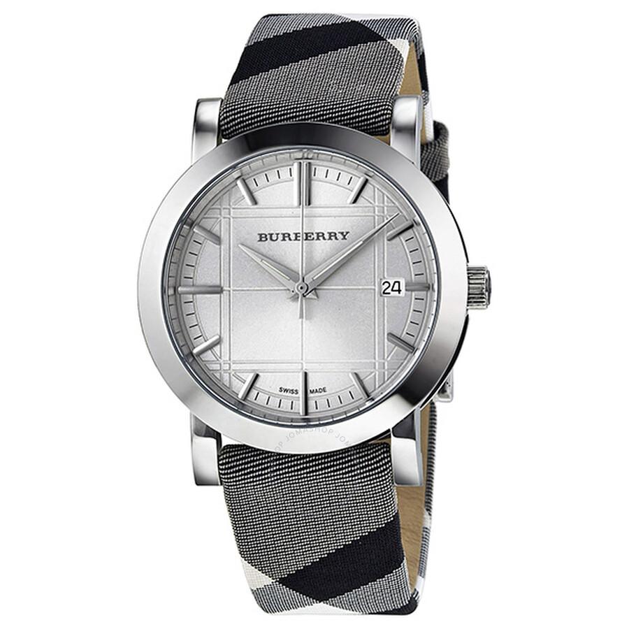 0ca13c54cdff Burberry Heritage Nova Check Silver Dial Ladies Watch BU1378 ...