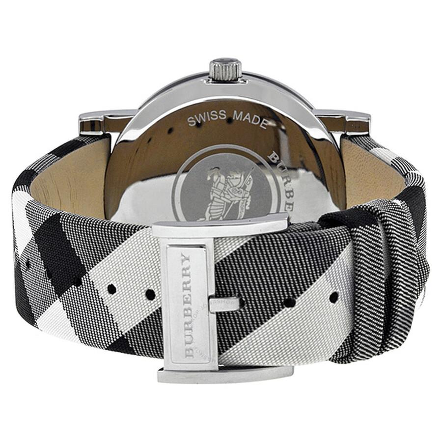 8737d8f5d732 ... Burberry Heritage Nova Check Silver Dial Ladies Watch BU1378 ...