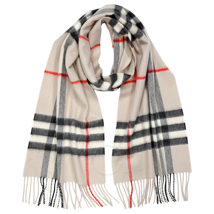 7c088fc344870 Burberry Heritage Stone Check Cashmere Scarf 3954673 Item No. 39546731