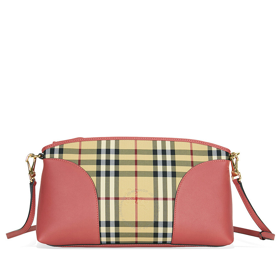 burberry horseferry check and leather clutch honey antique rose burberry handbags. Black Bedroom Furniture Sets. Home Design Ideas
