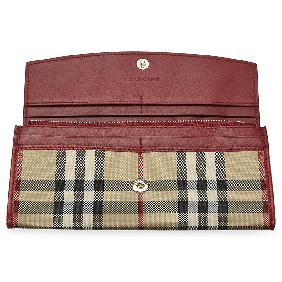 Leather Gmbh Contact Us Email Sales Mail: Burberry Horseferry Check And Leather Continental Wallet